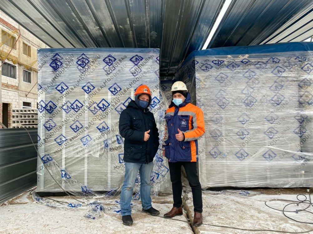 Компания Modulbau впервые поставила сантехнические модули на экспорт