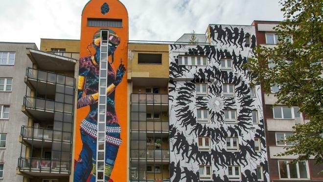 Презирая трафареты: в Подмосковье реализуют проект стрит-арта «Графика города»