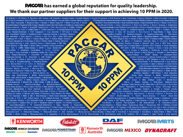 PACCAR объявляет победителей конкурса 10 PPM