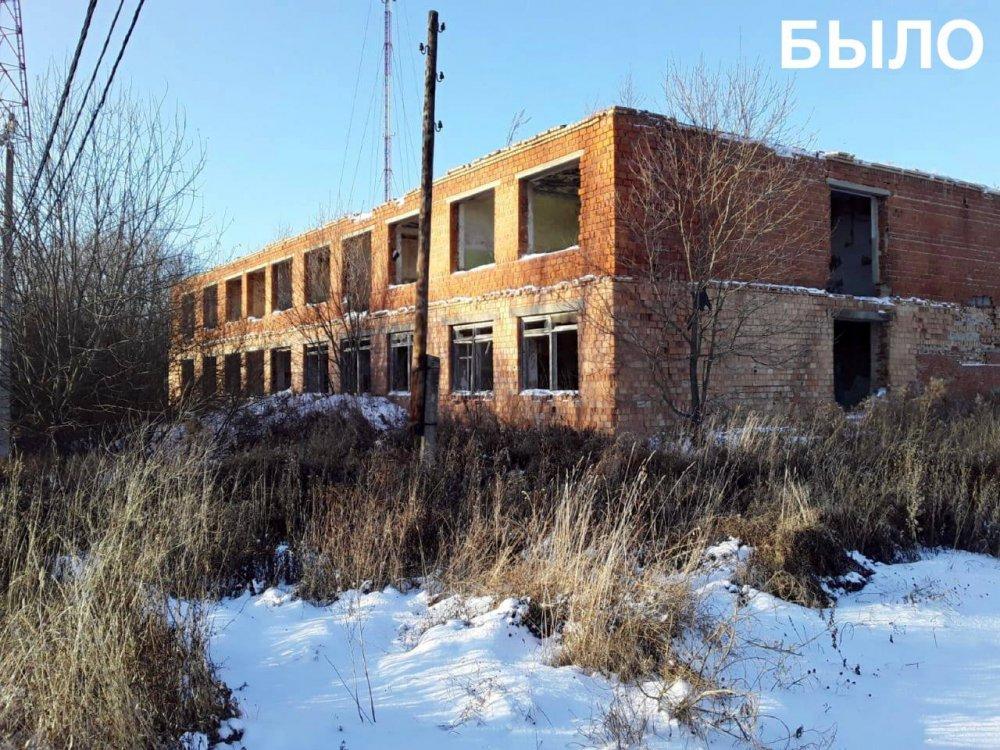 Аварийное здание бывшей школы снесли в г.о. Ступино