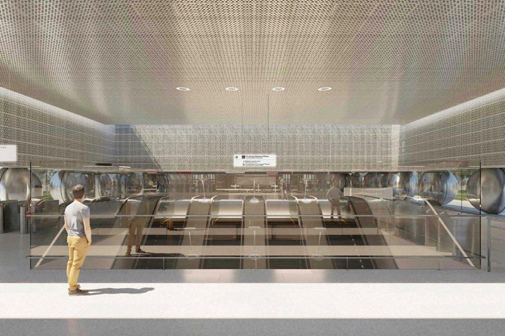 Смонтированы металлоконструкции самого длинного эскалатора в московском метро
