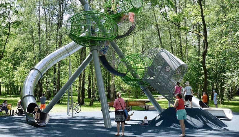 Дизайнерские детские площадки Premium Collection и MyDesign  от финской компании Lappset