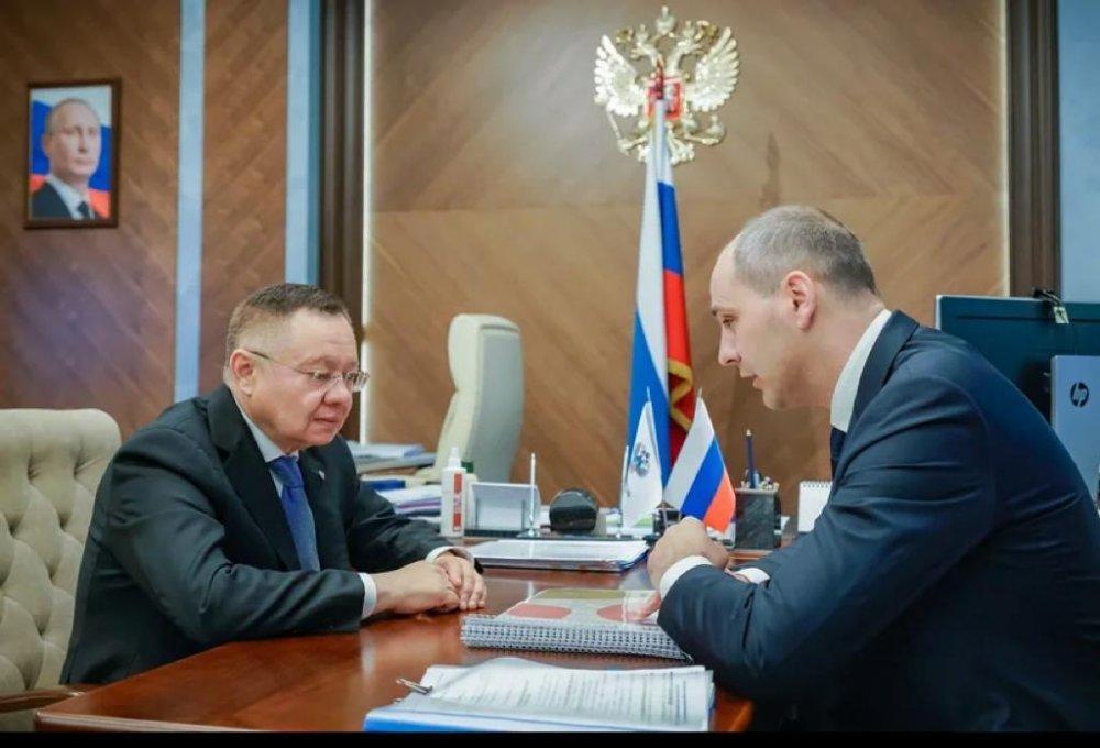 Ирек Файзуллин встретился с губернатором Оренбургской области Денисом Паслером