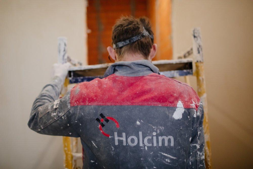 Сухие смеси бренда Holcim: оптимальное решение для машинного нанесения