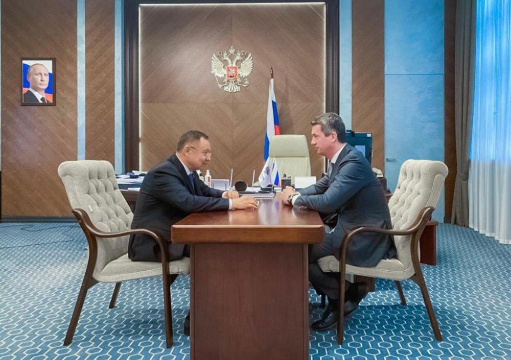 Ирек Файзуллин провел встречу с руководителем Росжелдора Игорем Ковалем