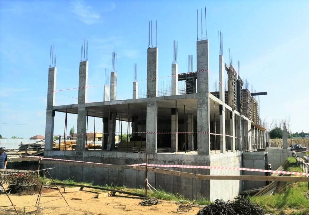 Строители приступили к возведению второго этажа поликлиники в Коломне
